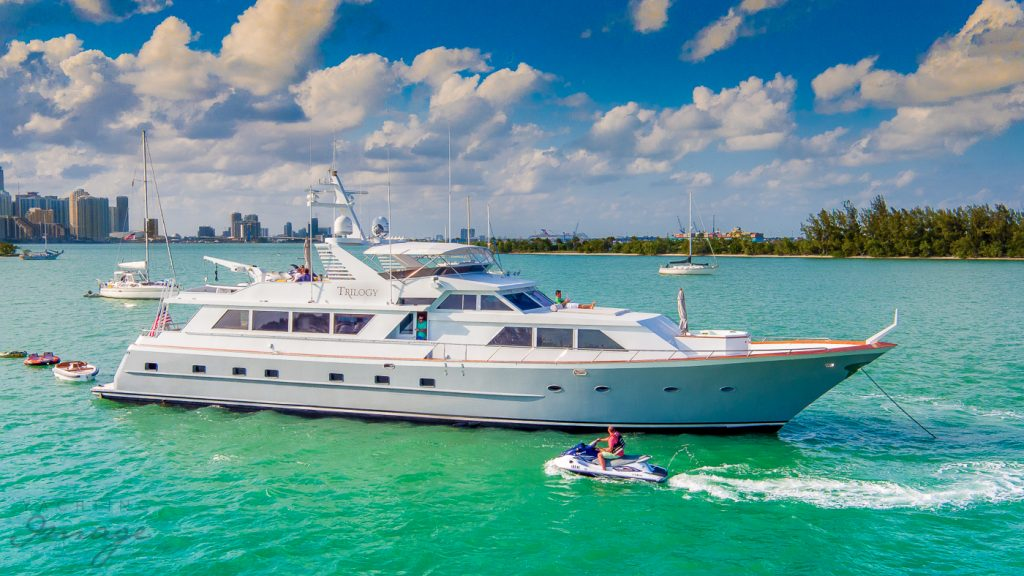 Broward 103 Ft Mega Yacht Charters in Miami