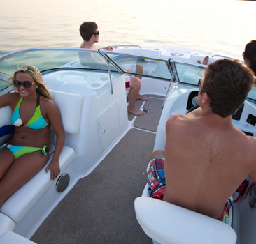 Sun Deck 23ft party boat