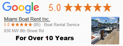 Google Ratings for Miami Boat Rent Inc.